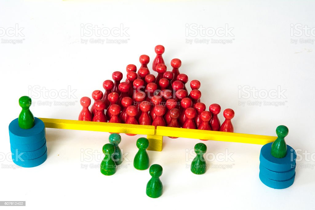border with watchtowers and vintage pawns stock photo
