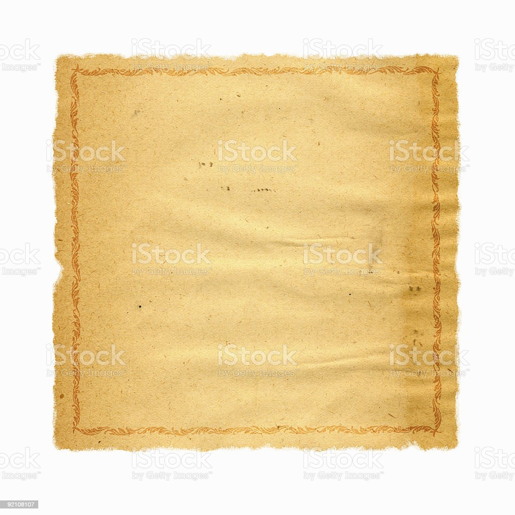Bordered Vintage Paper royalty-free stock photo