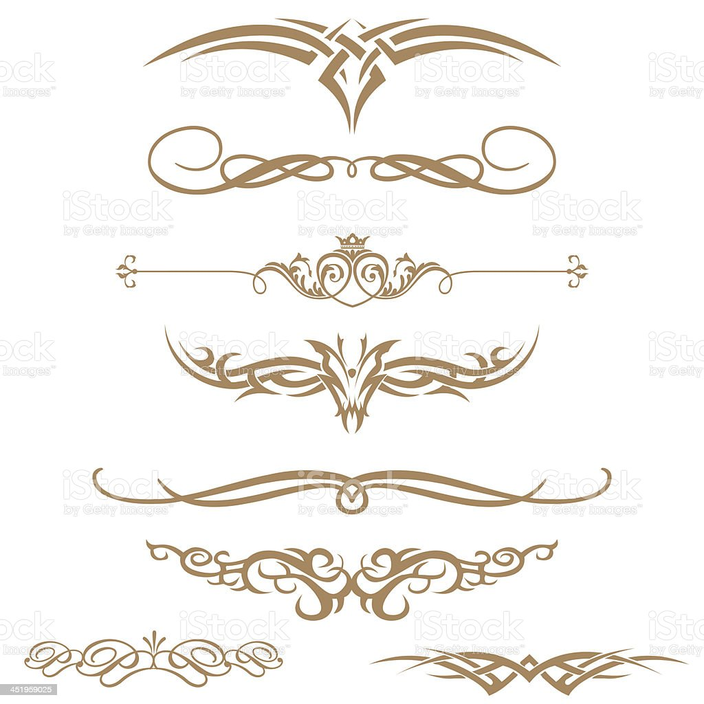 Borders and elements for design... stock photo