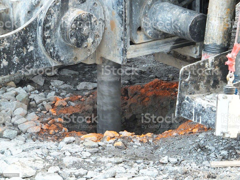 Bore hole stock photo