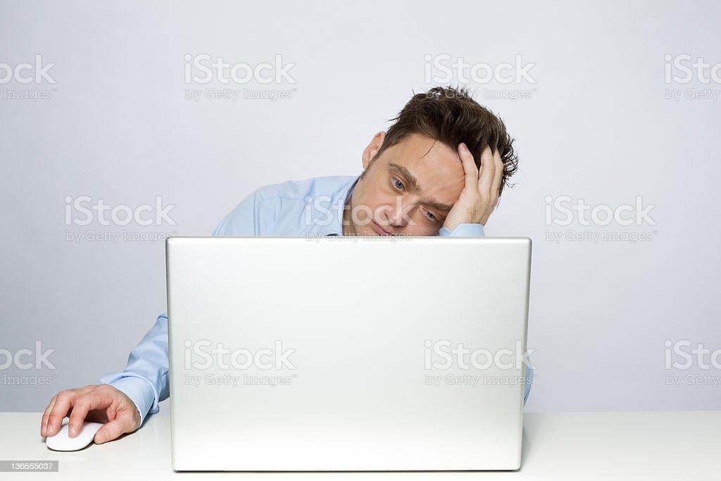 Bored businessman royalty-free stock photo