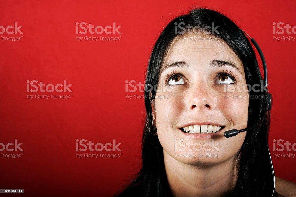Bored  Customer Service royalty-free stock photo