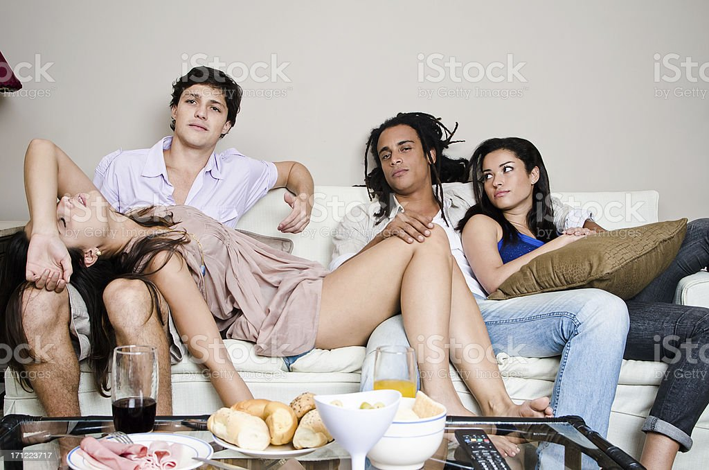 Bored Friends royalty-free stock photo