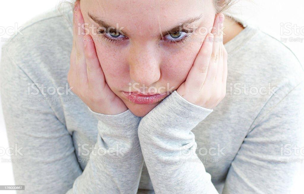 bored girl. royalty-free stock photo