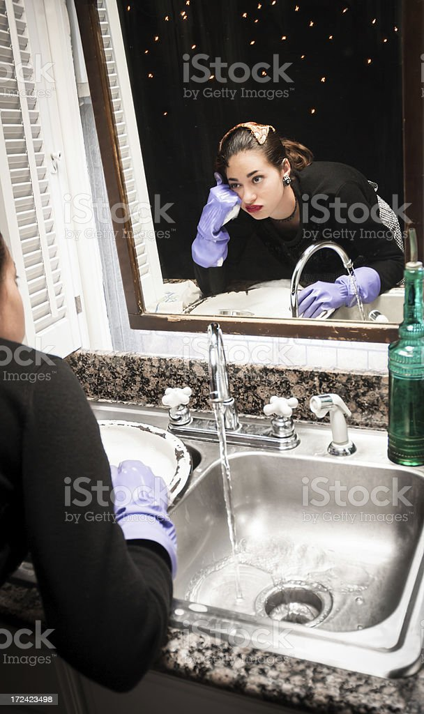 Bored housewife royalty-free stock photo