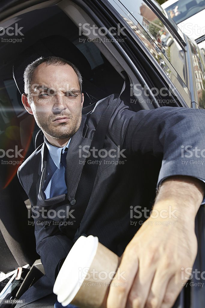 Bored in traffic jam royalty-free stock photo