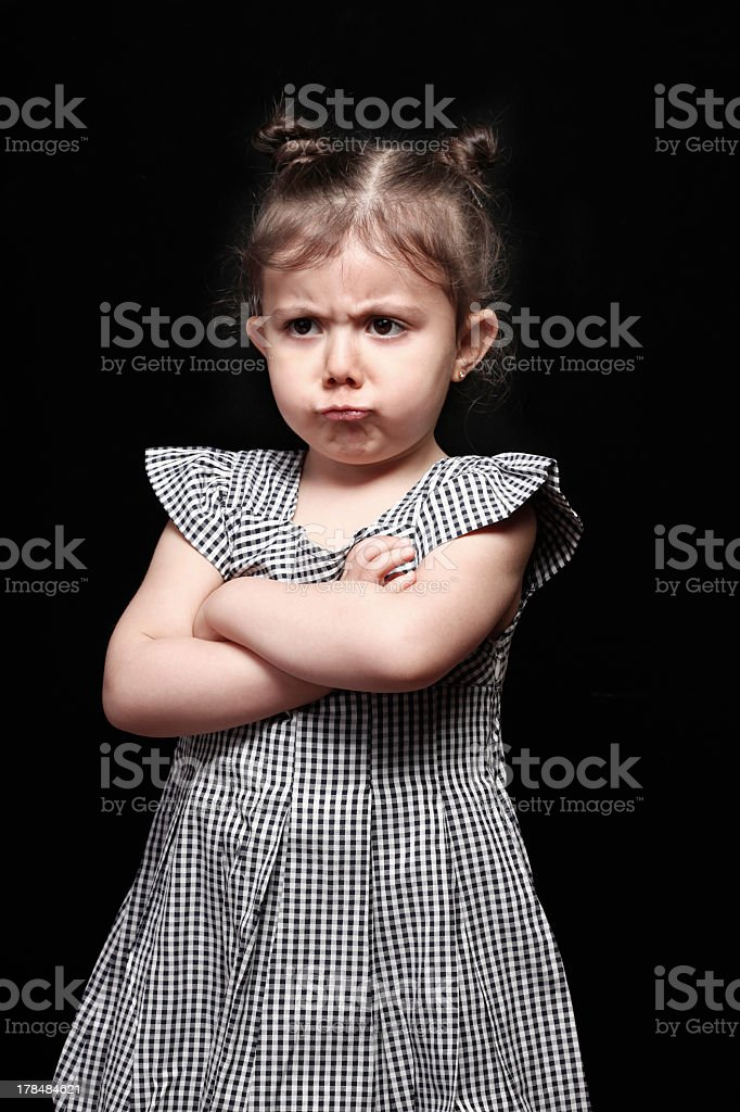 Bored Little Girl royalty-free stock photo