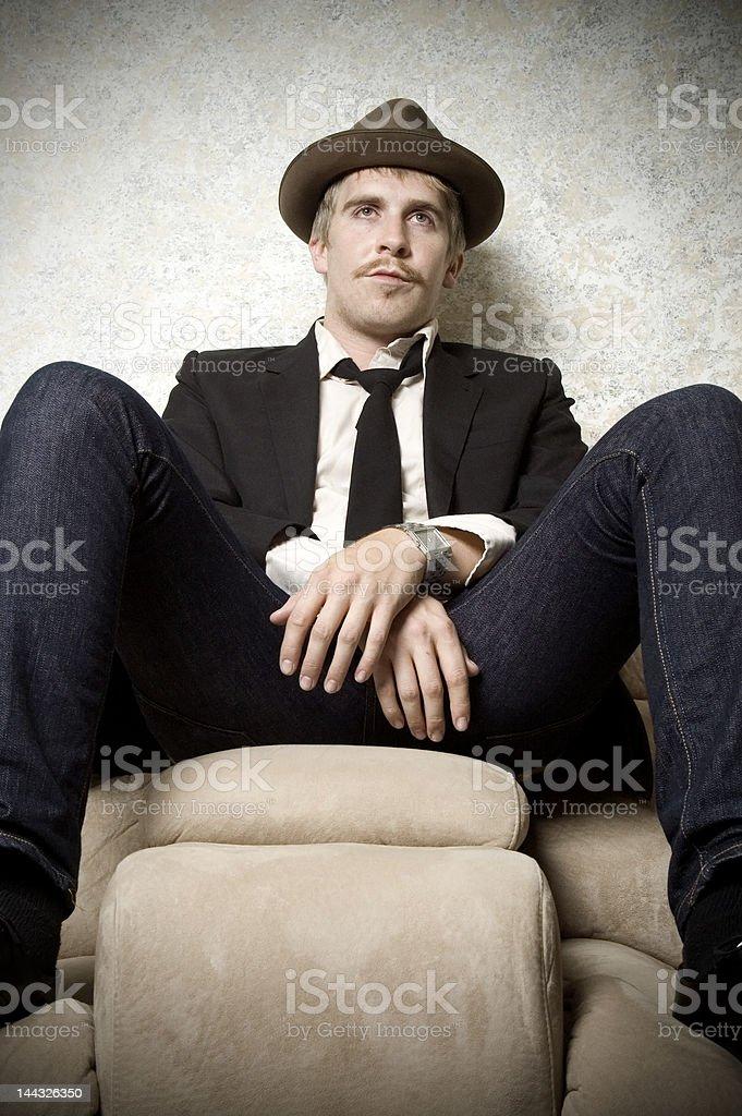 bored man royalty-free stock photo
