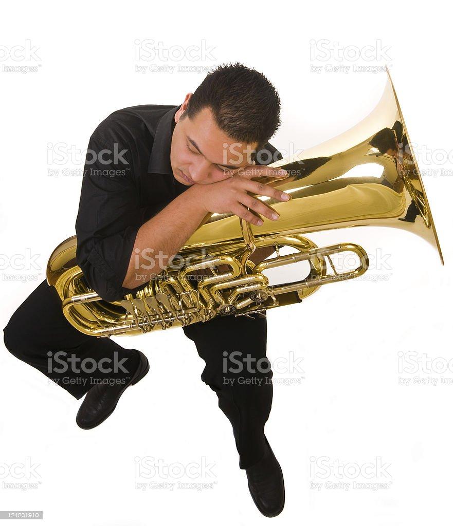 Bored musician stock photo