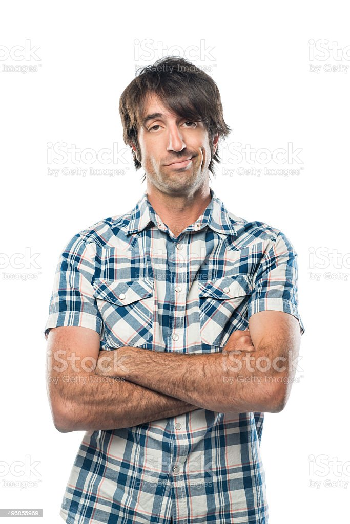 Bored Nerd stock photo