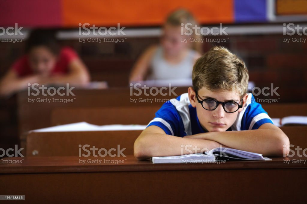 Bored of school royalty-free stock photo