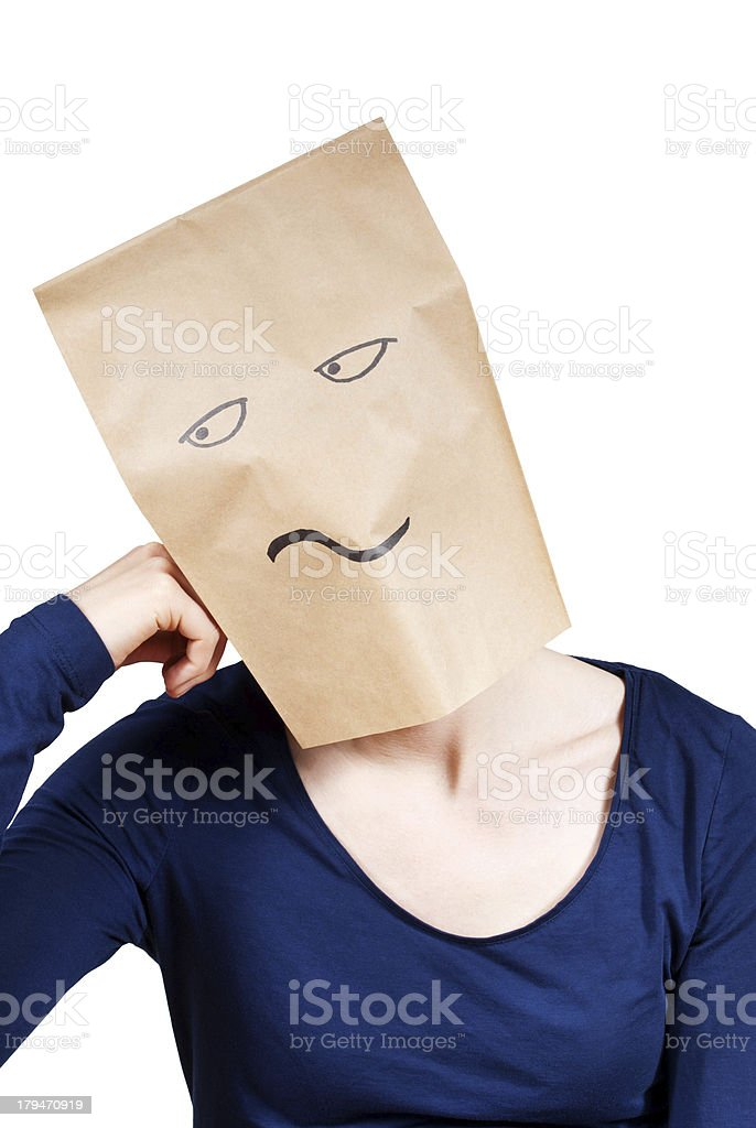 bored person royalty-free stock photo