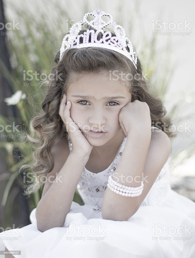 Bored princess stock photo