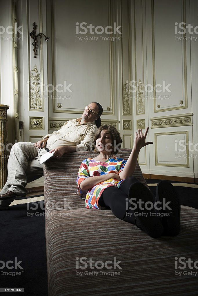 Bored psychiatrist royalty-free stock photo