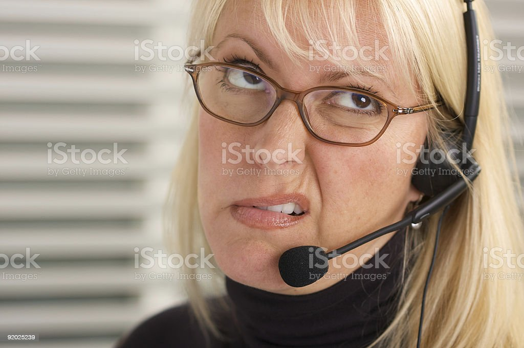 Bored Receptionist royalty-free stock photo