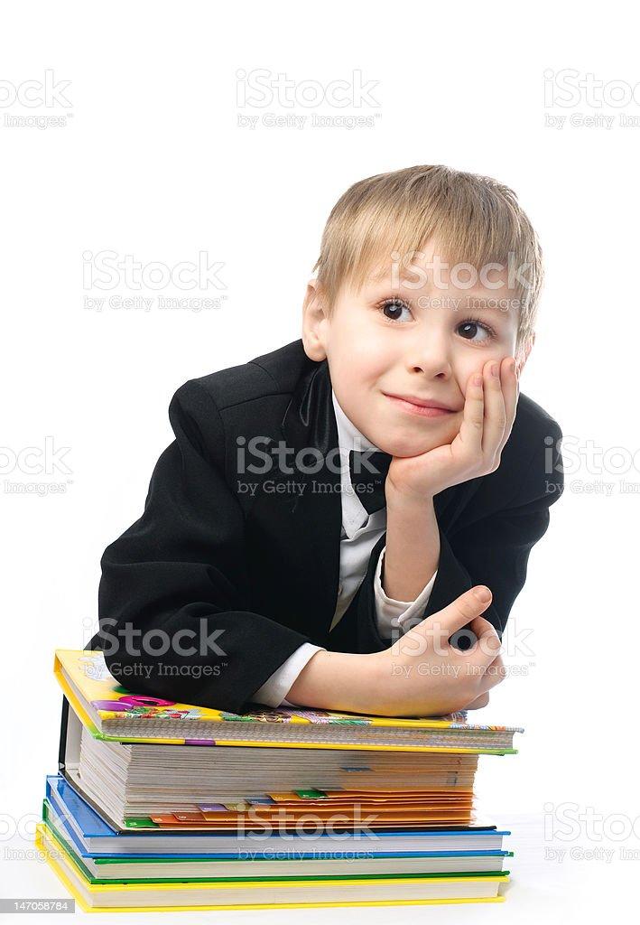 bored schoolboy royalty-free stock photo