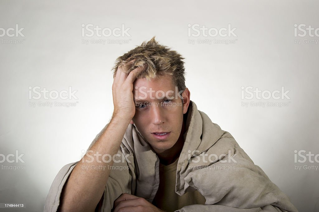bored, sick, and irritated royalty-free stock photo