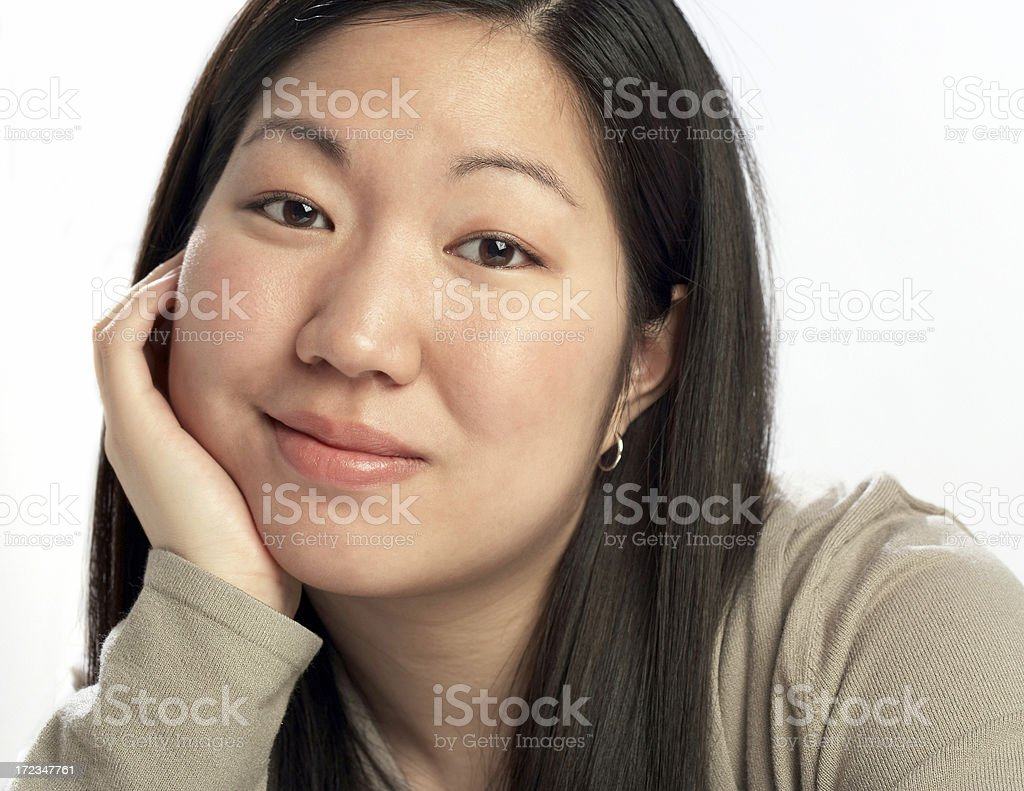 bored skeptical teenage girl royalty-free stock photo