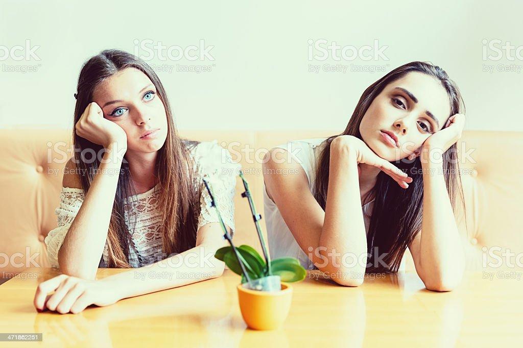 Bored Teenage Girls royalty-free stock photo