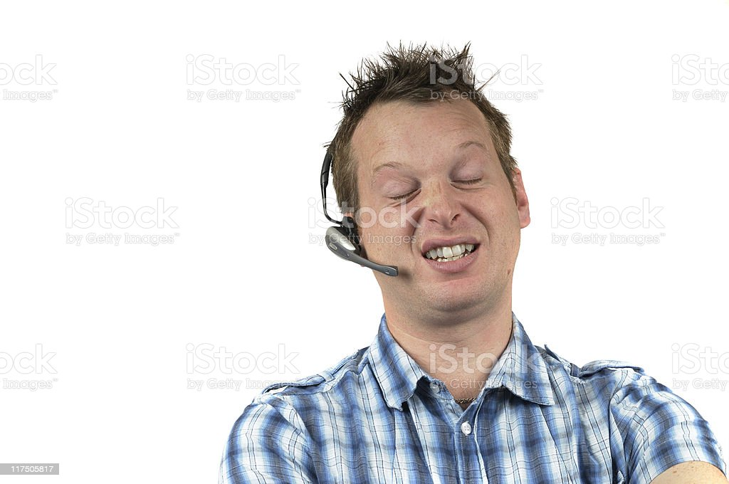 Bored Telephone Worker royalty-free stock photo