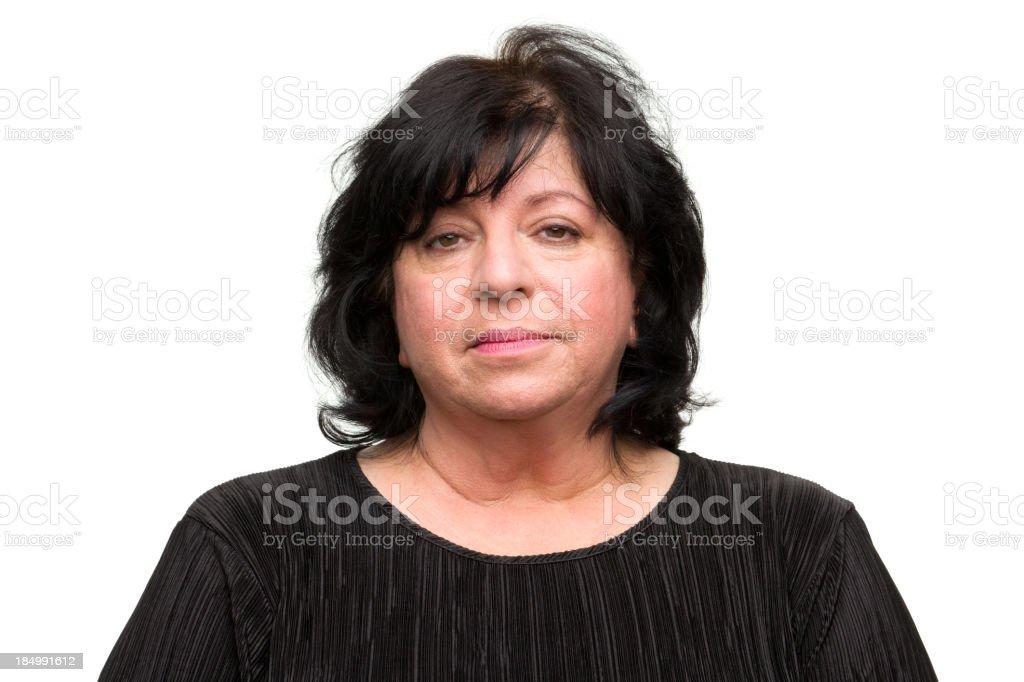 Bored Woman Mug Shot royalty-free stock photo