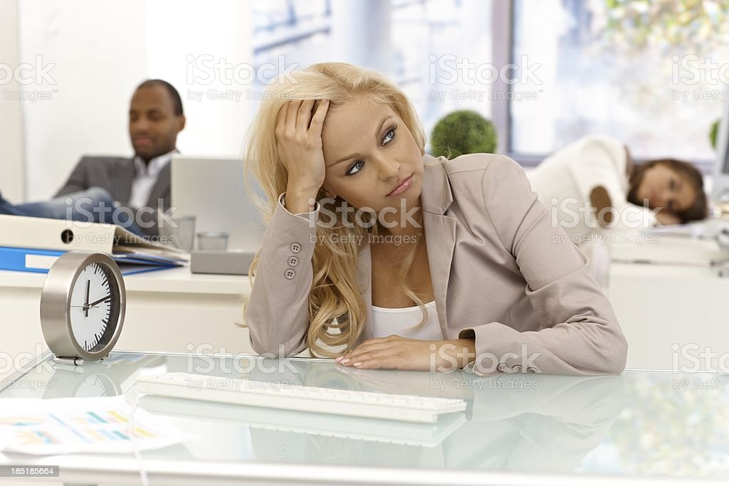 Boredom at workplace royalty-free stock photo