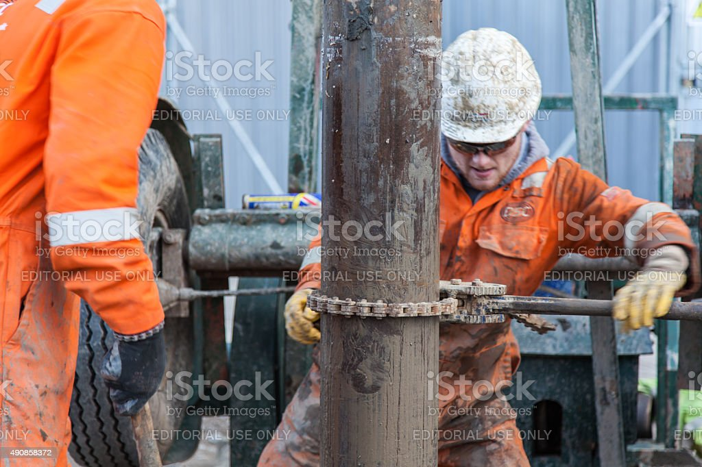 borehole drilling rig, stock photo