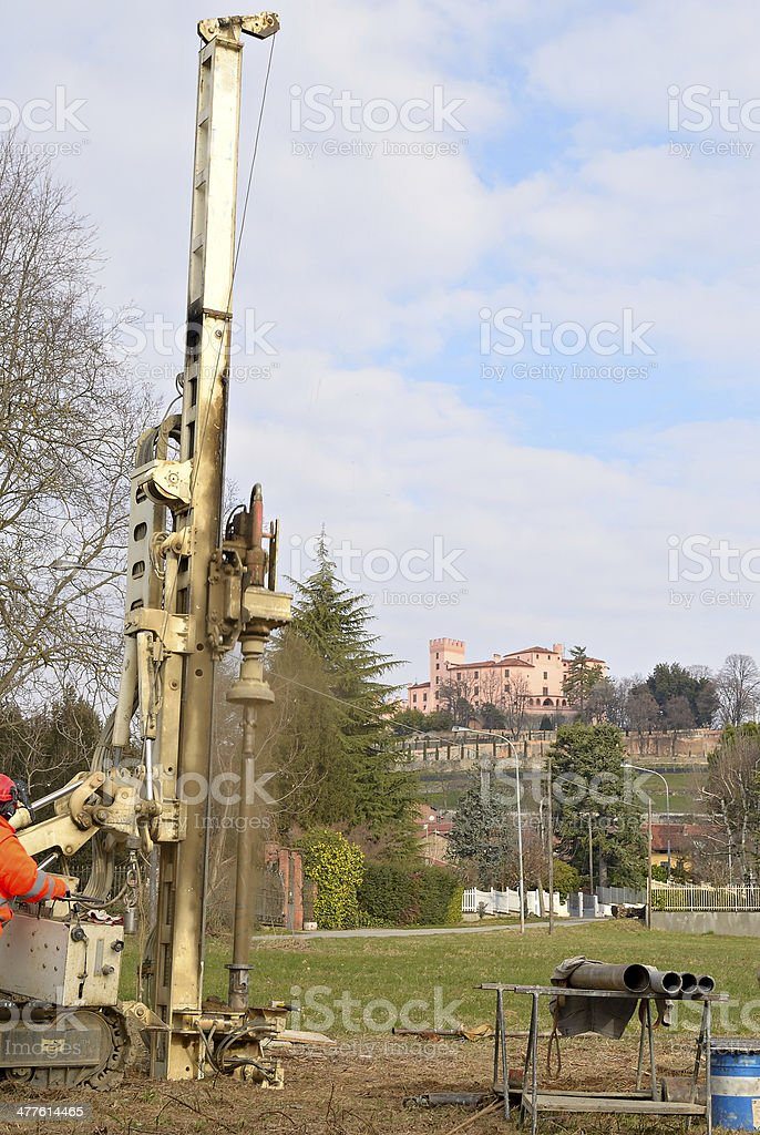 Borehole for soil testing royalty-free stock photo