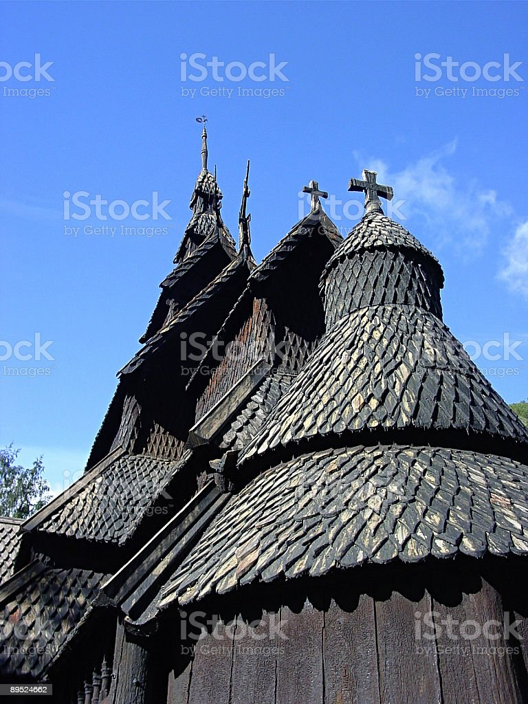 Borgen Stave Church, Norway royalty-free stock photo
