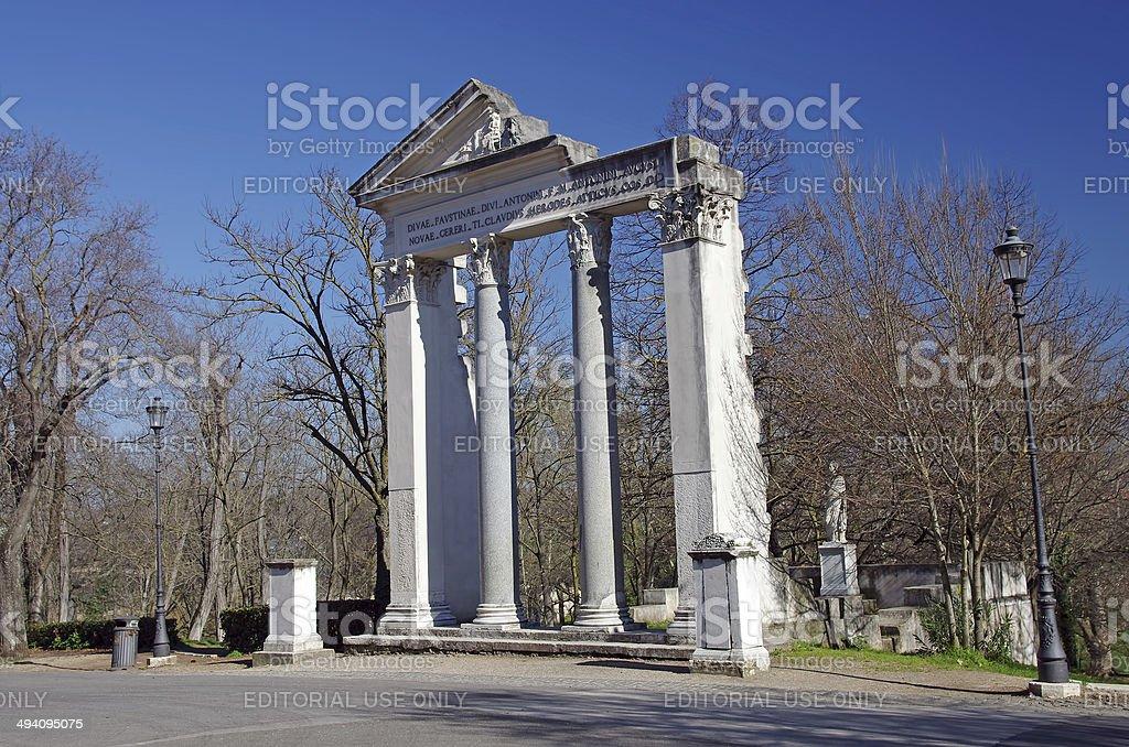 Borghese park stock photo