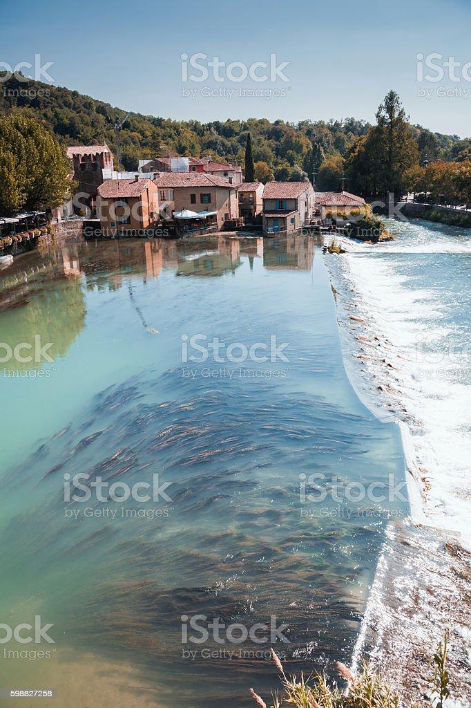 Borghetto village .Valeggio sul Mincio stock photo
