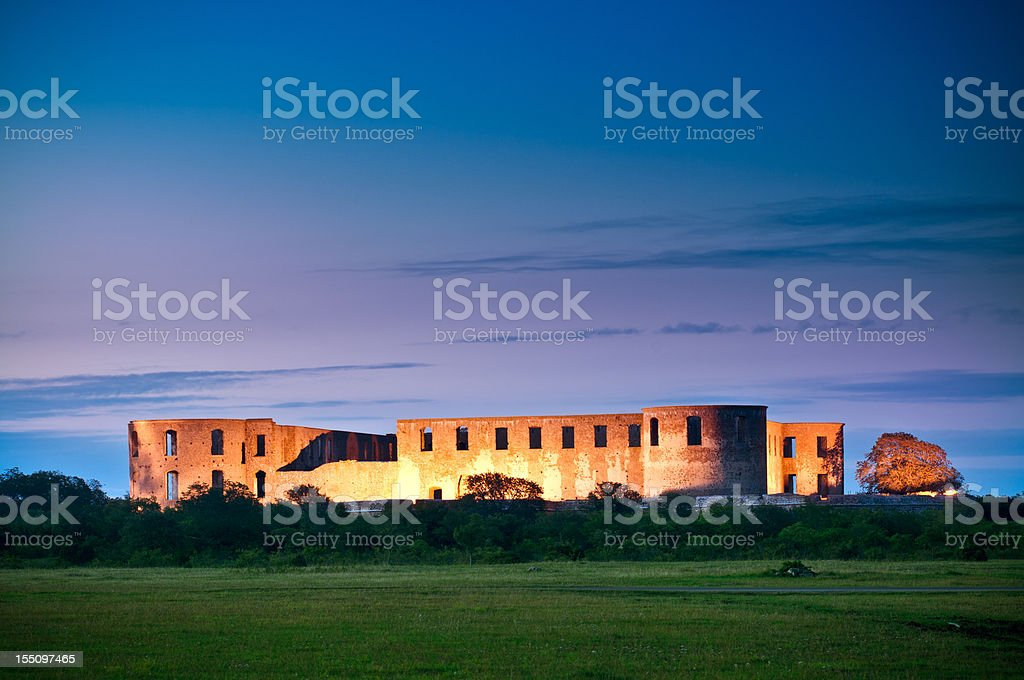 Borgholm Castle stock photo