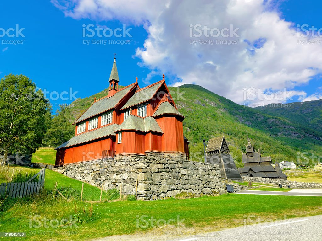 Borgund Stave Church, Norway stock photo