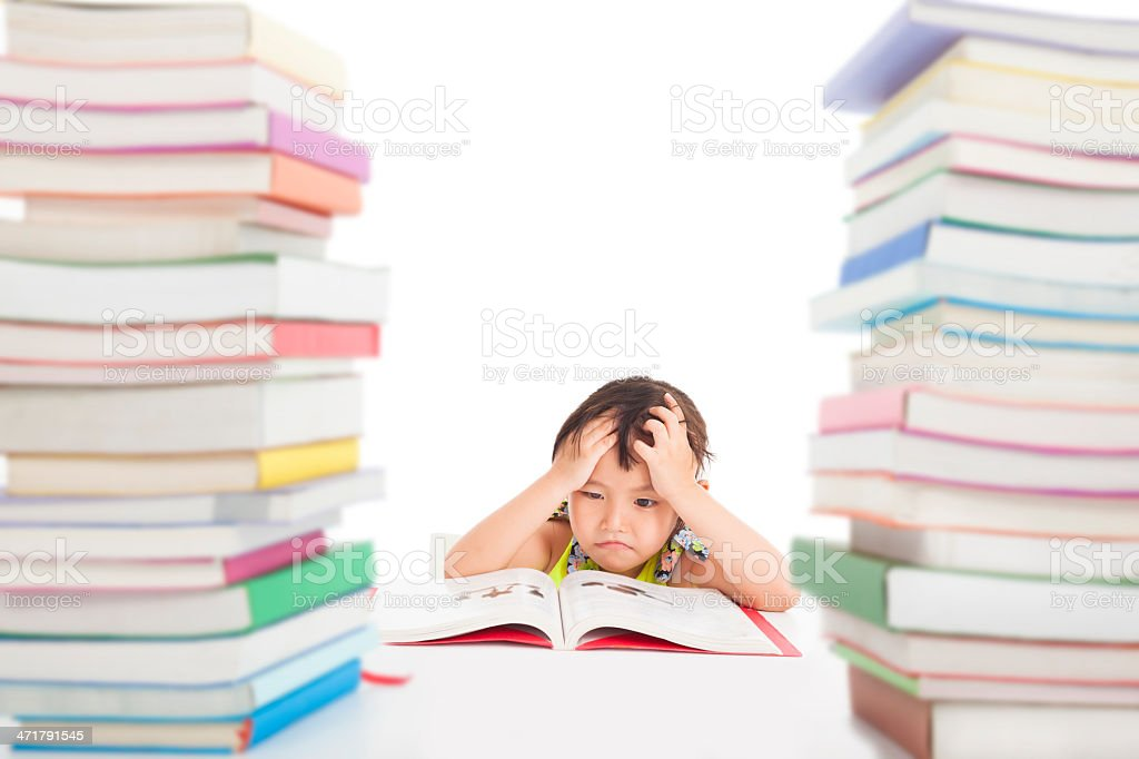 boring and tired little girl royalty-free stock photo