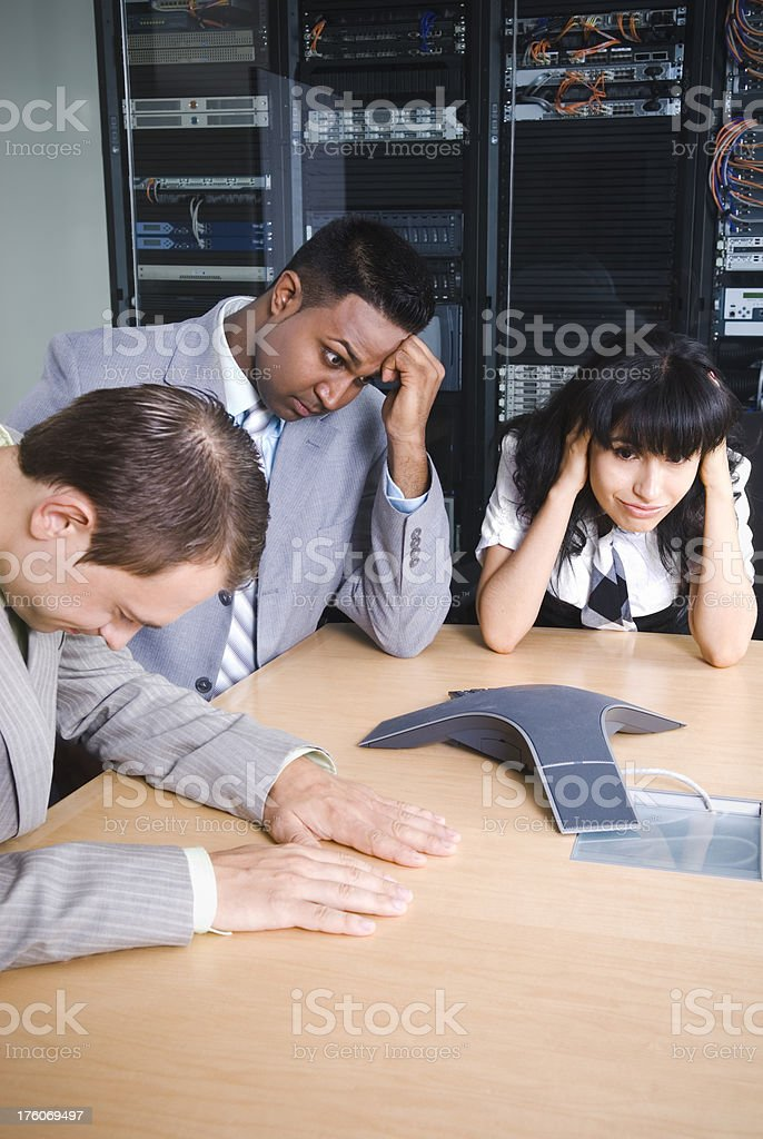Boring conference call - I royalty-free stock photo