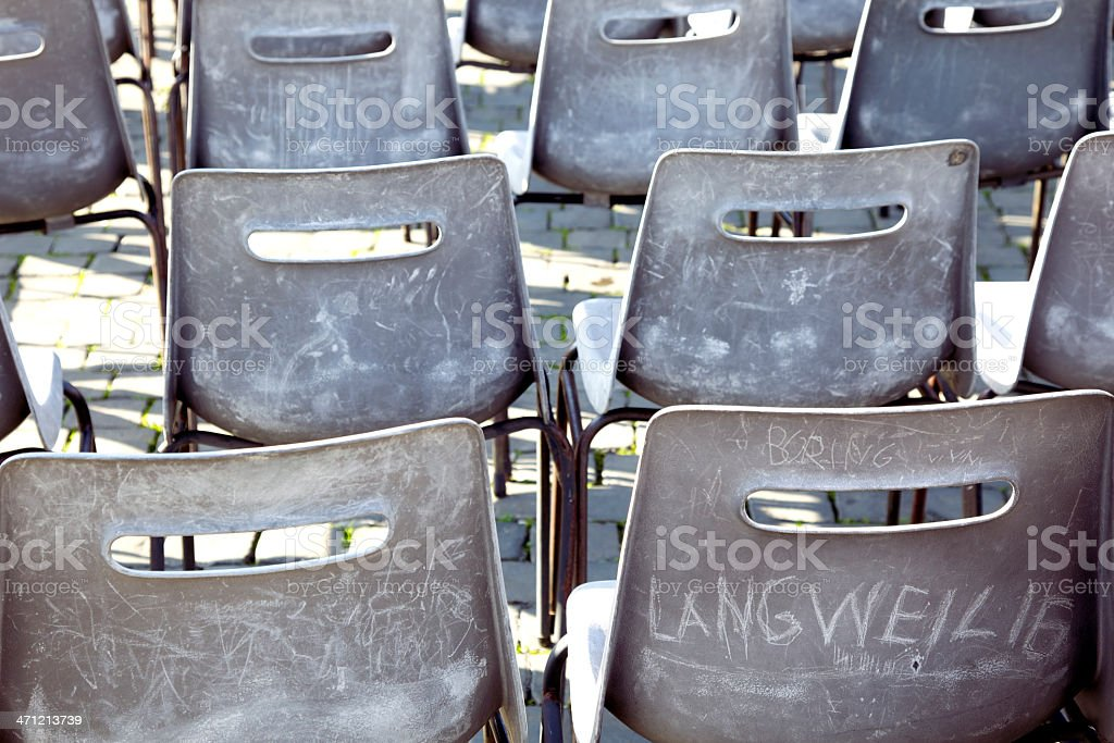 Boring conference (Langweilig) royalty-free stock photo
