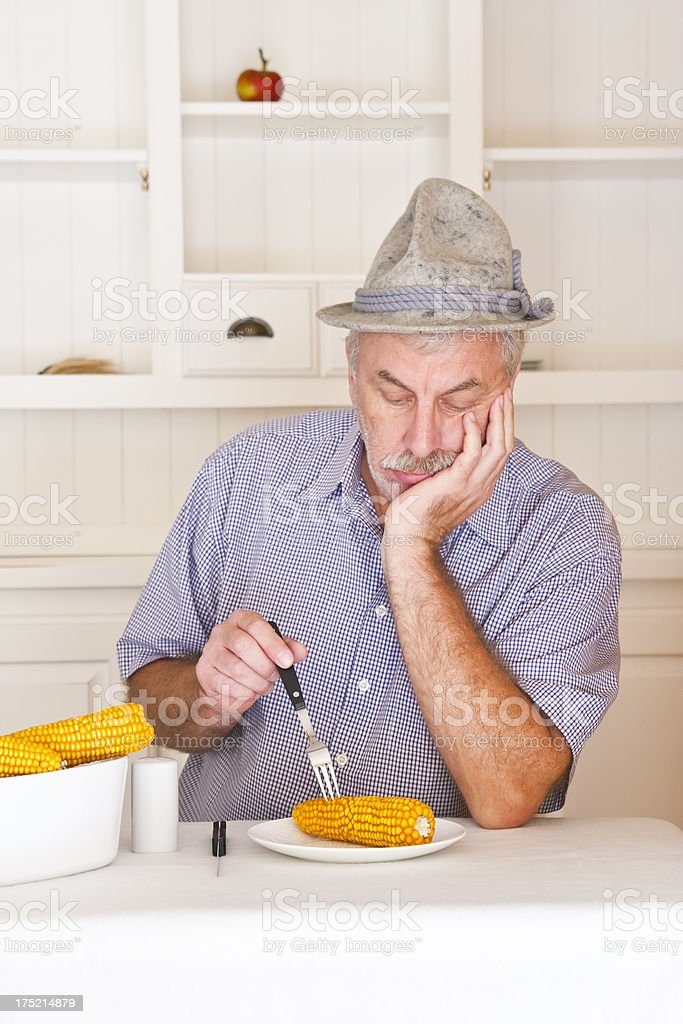 Boring Diet royalty-free stock photo