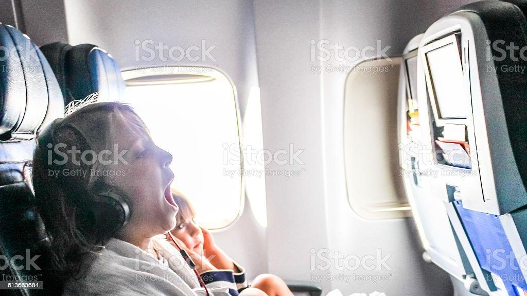 Boring Flight stock photo