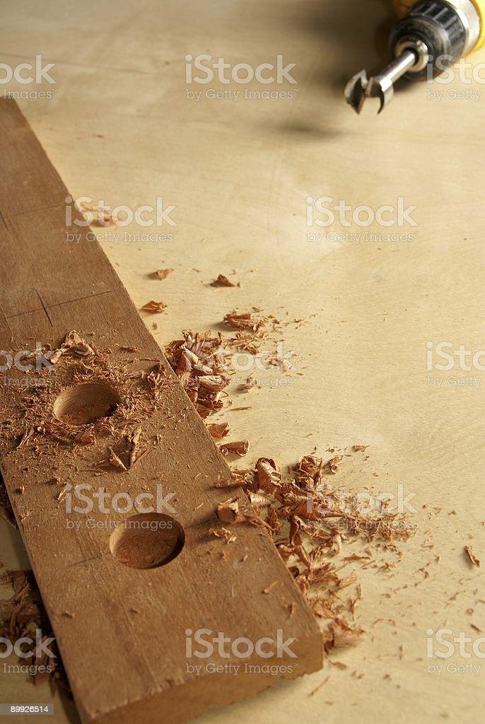 Boring Holes stock photo