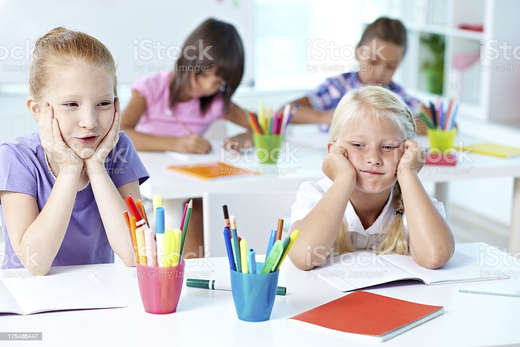 Boring lesson stock photo