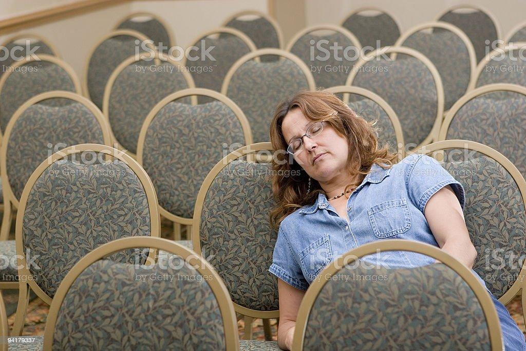 Boring meeting royalty-free stock photo