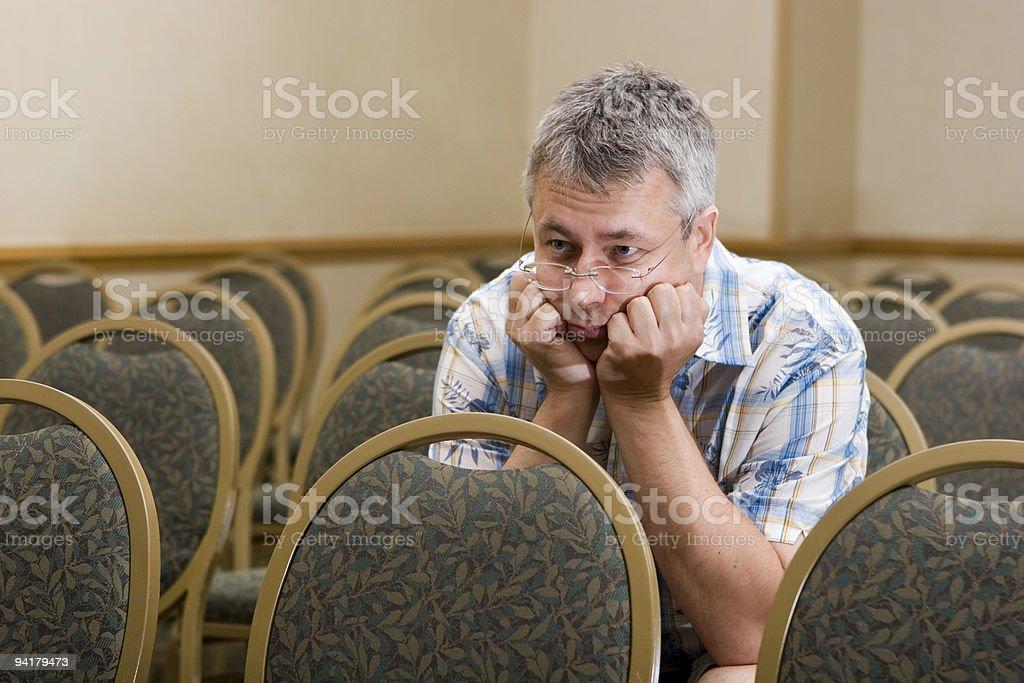 Boring meeting stock photo