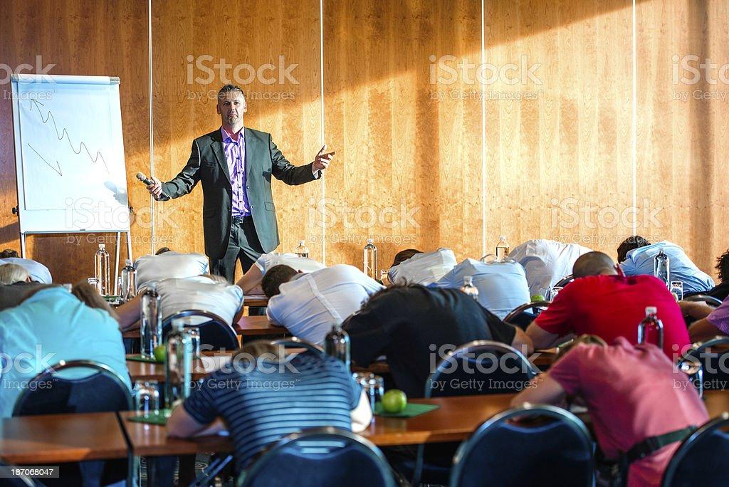 Boring seminar royalty-free stock photo