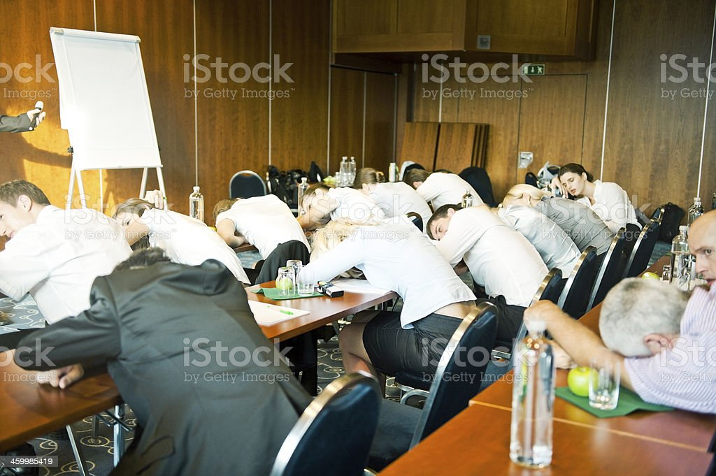 Boring seminar royalty-free stock photo