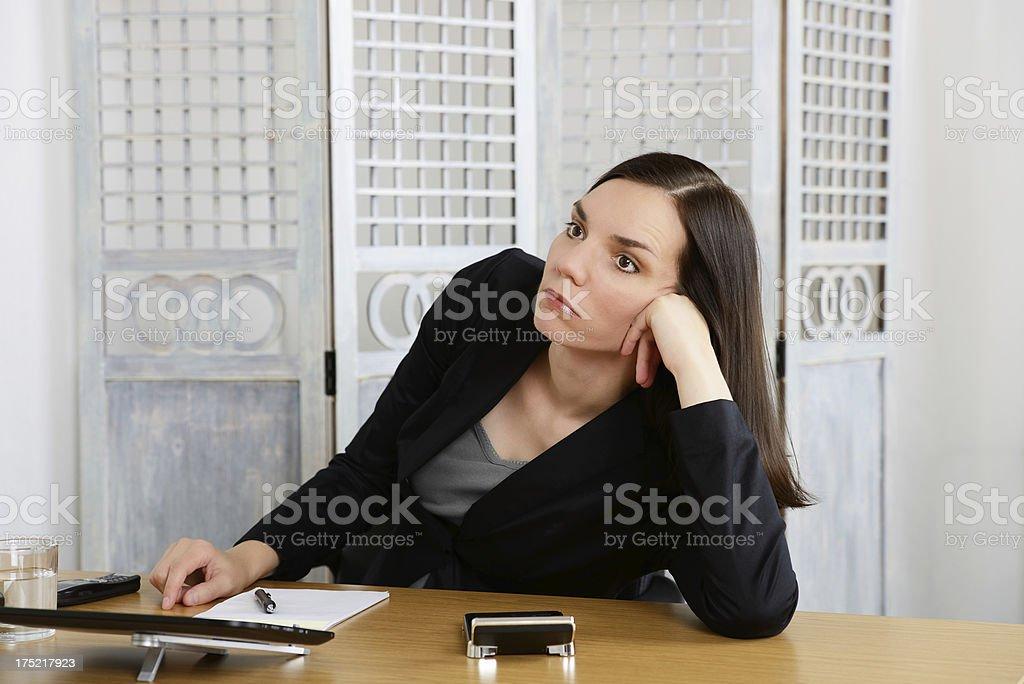 Boring Work royalty-free stock photo