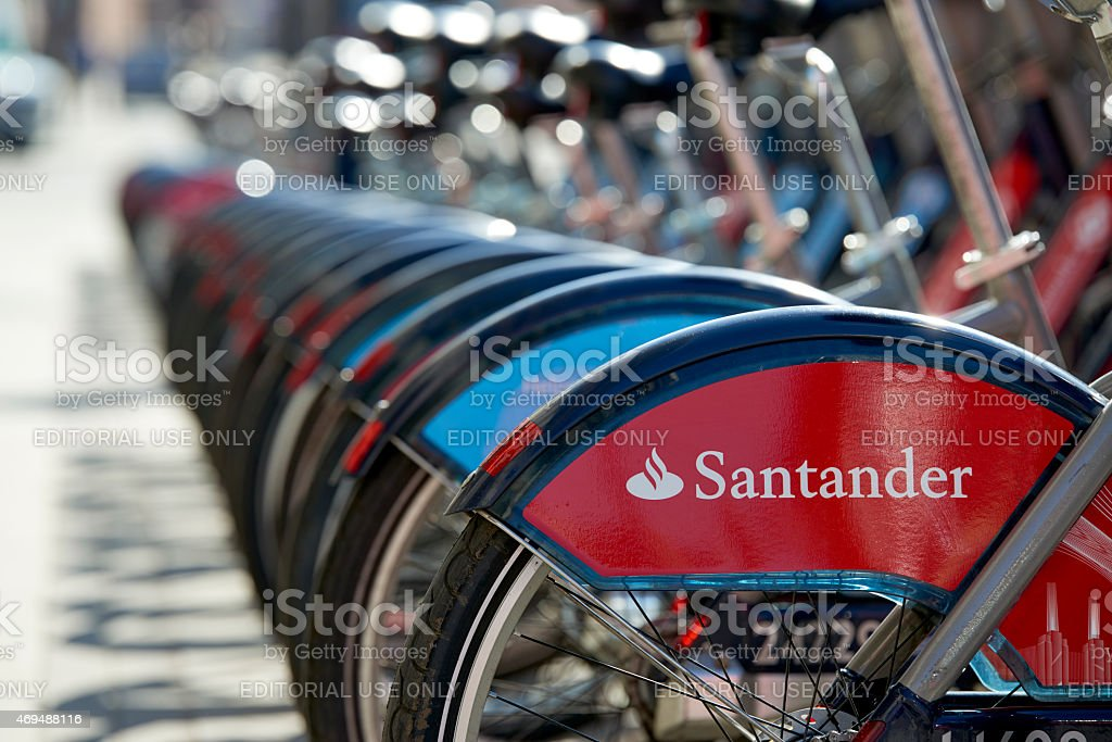 Boris bike stock photo