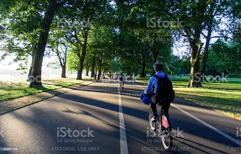 Boris Bikers in Hyde Park stock photo