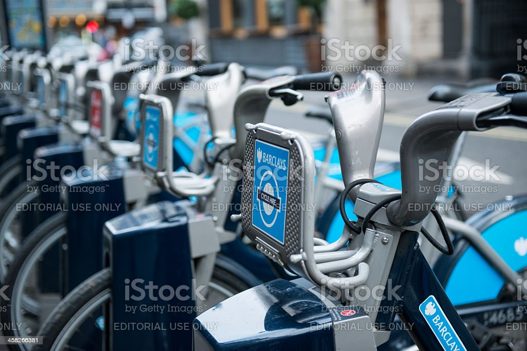 Boris Bikes stock photo