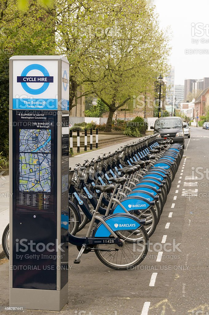 Boris Bikes royalty-free stock photo