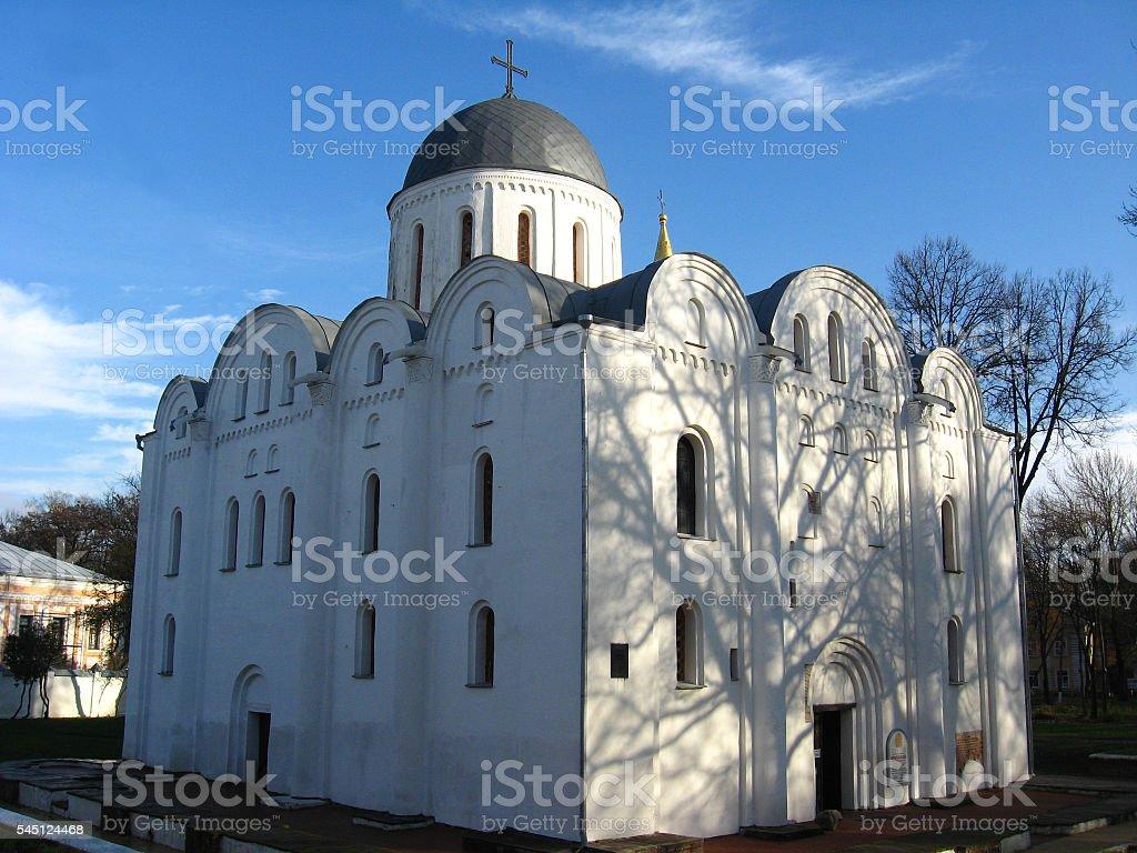Boriso-Glebsky cathedral in Chernihiv stock photo